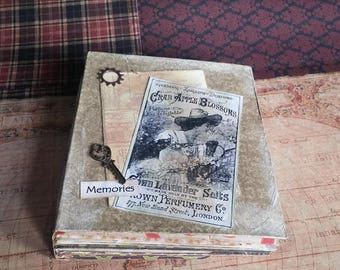 Lovely handmade scrapbook album