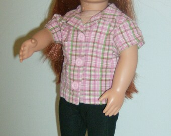 FREE SHIPPING! 5 piece casual pants and shirt made to fit American girl and Our generation dolls