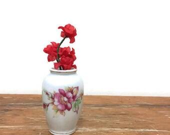 Vintage Tiny Floral Vase - Porcelain - Made in Japan