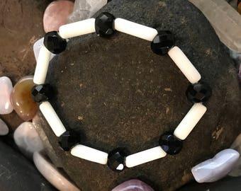 Czech Glass Bead Stretchable Bracelet