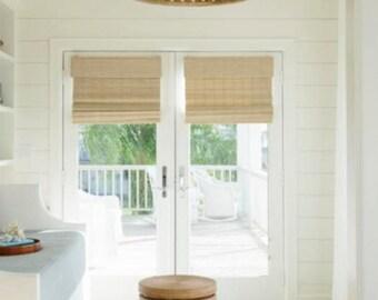 Roman shades door Bamboo shades french door shades woven wood shades jute  shades natural wood shades