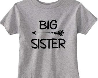 big sister gray arrow t shirt birth announcement  sissy photo props cute for family photo shoot tee shirt top clothes tshirt