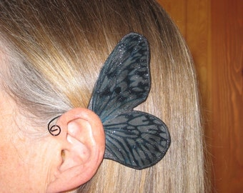 Fairy Ear Wings Black on Black   Oooo la LA