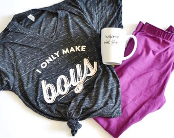 THE ORIGINAL I Only Make BOYS™ Black Marbled T Shirt, Mom of boys, mama to boys shirt, mom shirt, mom life, mom of all boys, moms with boys