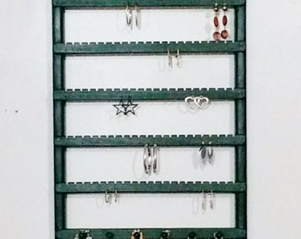 Jewelry Organizer, Earring holder, Wall Mount, Earring organizer, Earring display, Necklace Organizer, Necklace Storage, Necklace Display