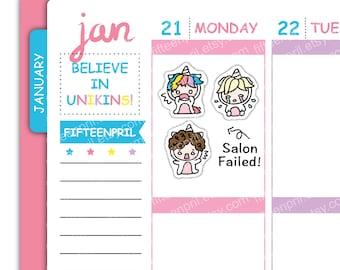 J076-Salon failed Unikin stickers