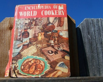 "Vintage 50's ""ENCYCLOPEDIA of WORLD COOKERY"" by Elizabeth Campbell Shabby Chic"