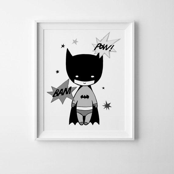 Batman print kids room print nursery wall art printable art