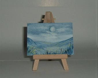 moonlight aceo art painting (ref E160)