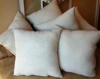 """Pillow Insert, Handmade Pillow Form, 12x16"""", 12x20"""", 14x14"""", 16x16"""", 18x18"""", 20x20"""" Pillow insert"""