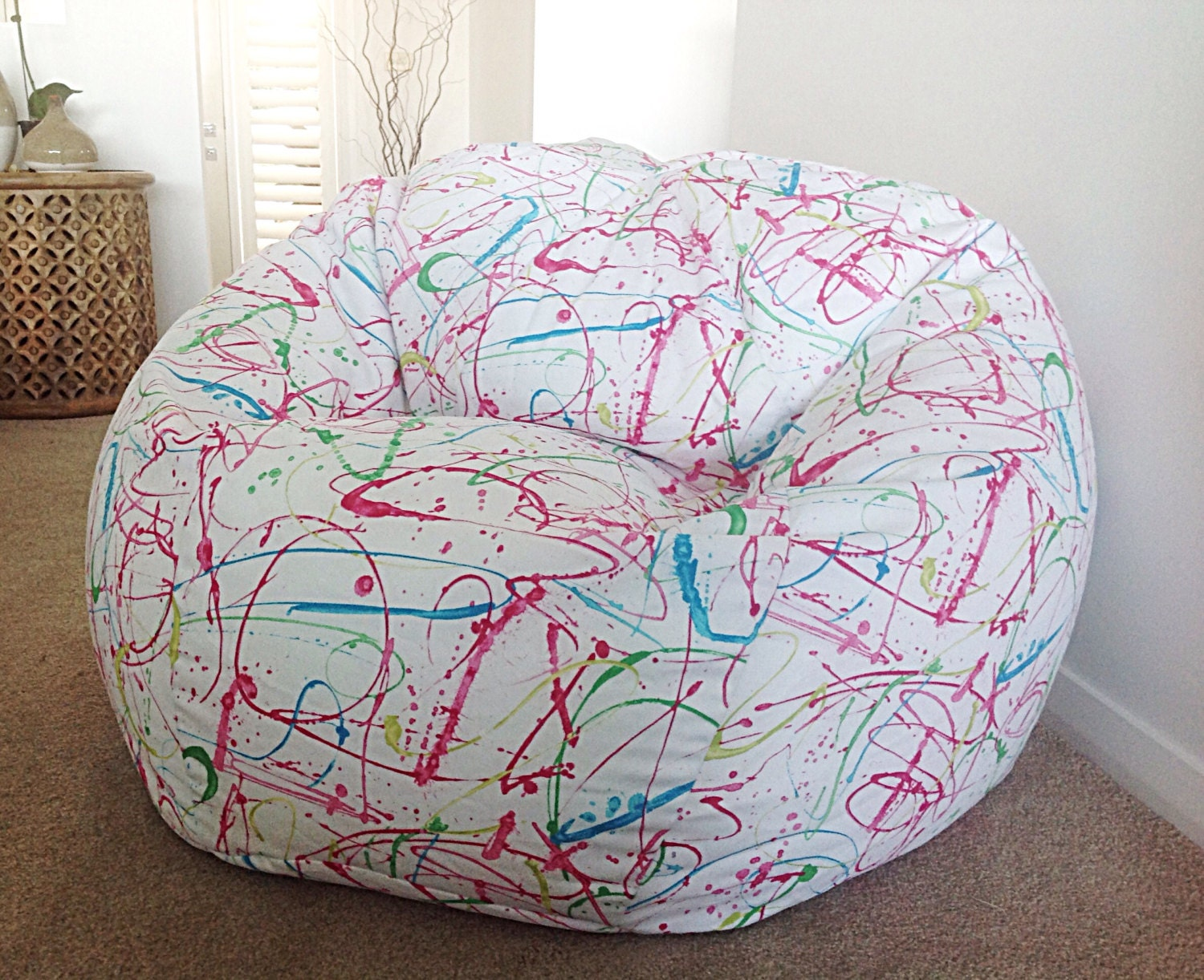 Bean Bag Cover Drop Tuch Splat Kunst Design Kinder