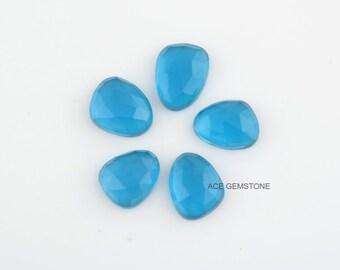 London Blue Quartz Gemstones-Fancy 12x14mm Gemstones-Wholesale Gemstones-Faceted Gemstone-Hand Cut Gemstone-5Pcs