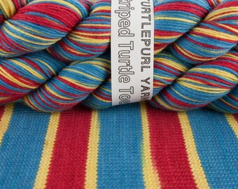 Old Skool - Hand-Dyed Self Striping Sock Yarn