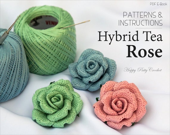 Crochet Flower Pattern Crochet Rose Pattern Crochet Pattern