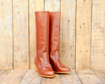 Cowgirl Boots cowgirl leather boots tall leather boots Cowboy Boots Western wear tall cowgirl boots vintage cowboy boot vintage cowgirl
