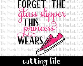 Forget the Glass Slipper This Princess Wears Converse (low top) SVG/DXF cutting file