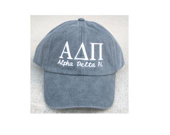Alpha Delta Pi with script baseball cap