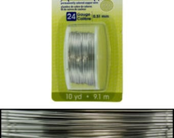 Artistic Wire Dispenser Pack Stainless Steel 24ga - 10 yards  (WR23824)