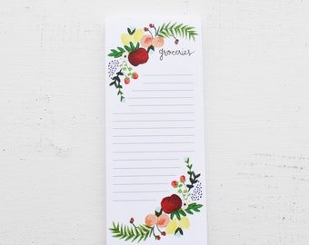 "Whimsical Produce ""Groceries"" Notepad"
