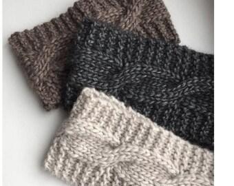 Knit headband 6 colors Alpaca headband  Cable Headband Women headband Wool Wide headband for women Hand knit hair band Winter Headband