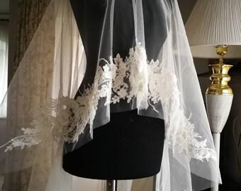 Veil, Bridal Veil, Bohemian Veil, Tulle Veil, Lace Veil
