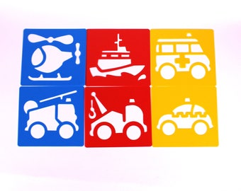Plastic Public Services Art Stencils Set for Kids Drawing People Who Help Us Pack of 6