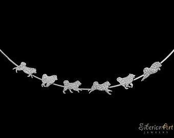 Samoyed Team necklace - sterling silver