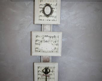 Romantic triptych frame