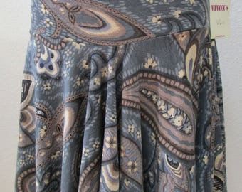 Retro print mix color skirt or tube dress plus made in U.S.A  (v60)