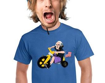 George washington t-shirt, july 4th, bike tee, big wheel, bicycle, patriotic t-shirt, gift for 4th of july, funny bicycle gift, shirt, s-4xl