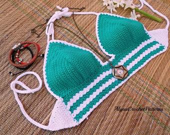 Crochet Bikini Top Pattern- Crochet Pattern - Bikini Top- Instant Download