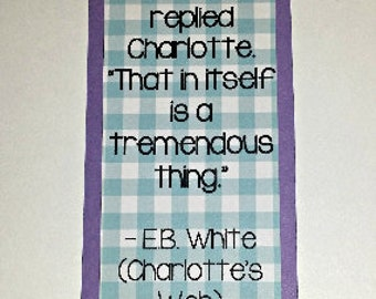 Charlotte's Web pig birthday bookmarks - great party favors