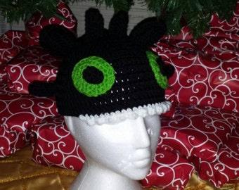 Crochet Dragon hat you choose size