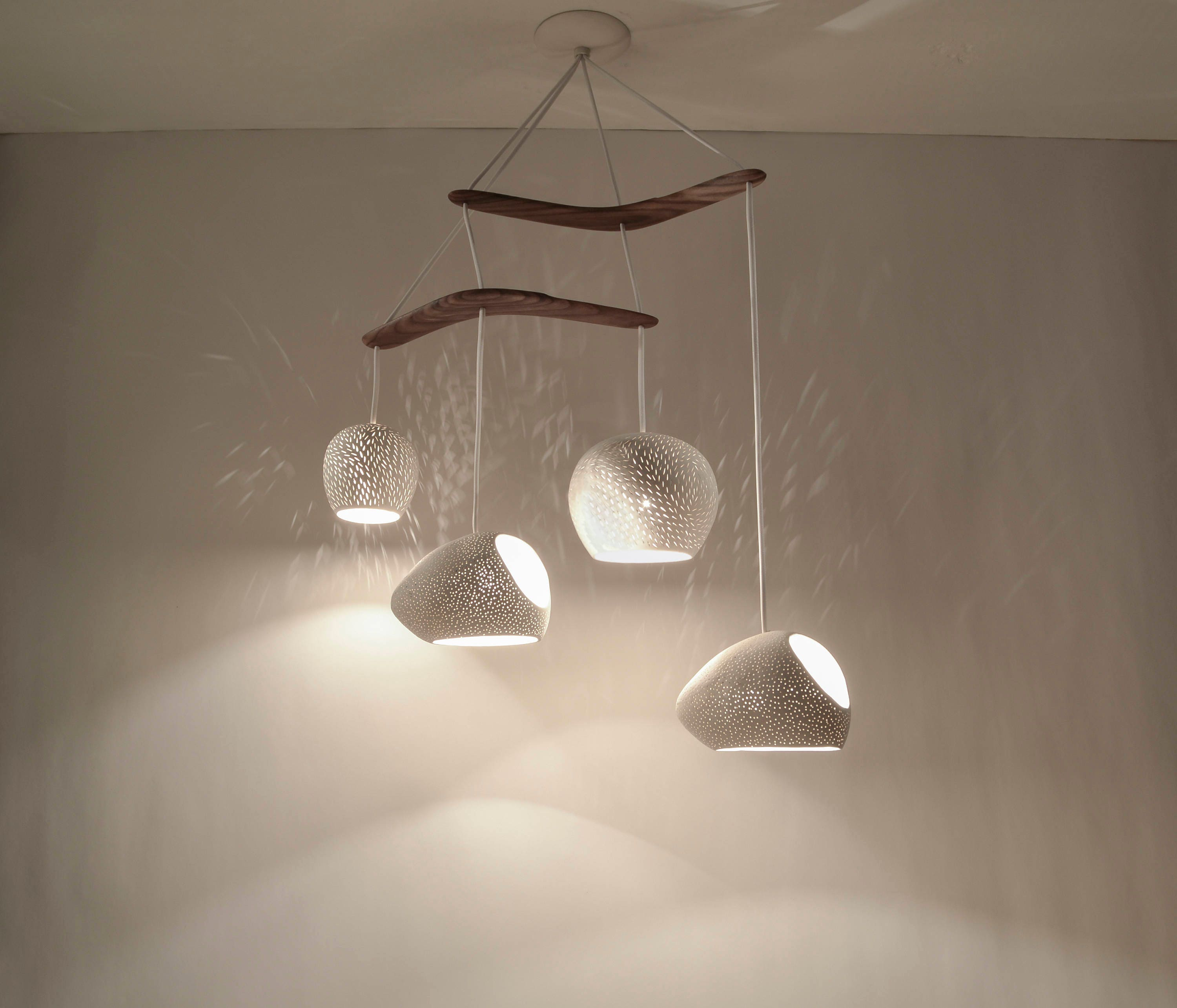 Ceramic chandelier claylight boomerang large zoom arubaitofo Image collections