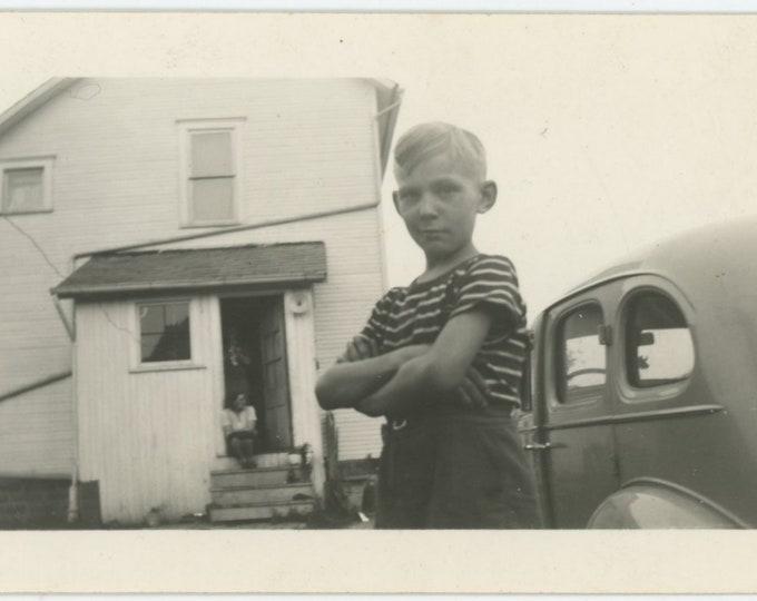 Vintage Snapshot Photo:Attitude [86689]