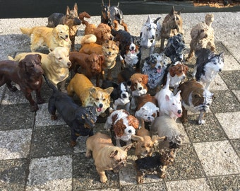 Custom Dog Sculpture | 3D Printed & Hand-painted | Pet Portrait Dog Figurine Statue Memorial | Any Pure Mix or Rescue Breed | Dog Lover Gift