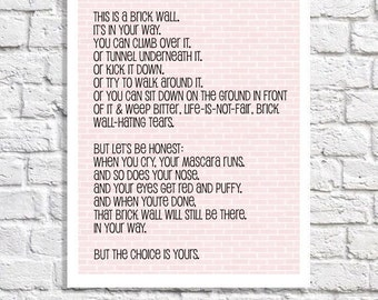 Motivational Wall Decor Inspirational Quote Print Encouraging Words Of Wisdom Positive Affirmation Office Inspiration Teen Art Dorm Decor