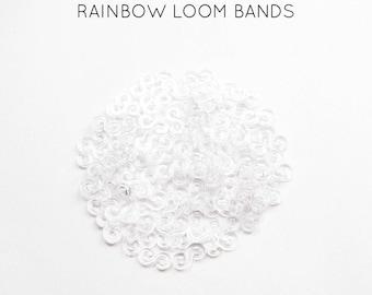 100 clasps S transparent rainbow loom bands