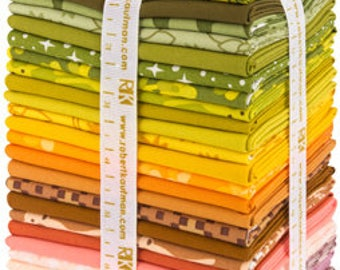 PRECUT Terrarium Warm Colorstory Fat Quarter Bundle - Elizabeth Hartman - Robert Kaufman (FQ-1303-28)