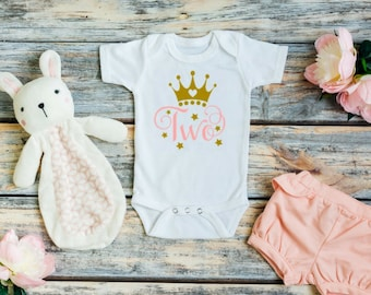 Two year old birthday outfit girl - Two year old birthday shirt - 2nd birthday outfit girl - 2nd birthday shirt - Second birthday shirt