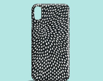 B&W Hearts mobile phone case / iPhone X, iPhone 8, iPhone 7, iPhone SE, iPhone 6S, iPhone 6, iPhone 5/5S / iPhone / hearts pattern case