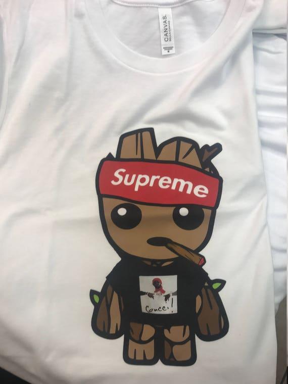 Baby Groot Shirt / Gucci Mane shirt / Supreme Style / Baby