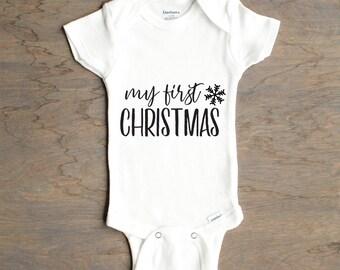 First Christmas Onesie®, Newborn Onesie®, Christmas Onesie®, My First Christmas, Gift for Expecting Parents, Babys First Christmas