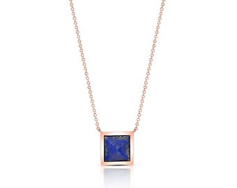 Lapis Pyramid Necklace