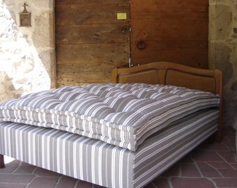 Organic Double Size Wool Mattress - handmade and locally produced