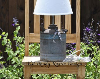 Upcycled Oil Can Lamp, Repurposed Oil Can, Vintage Oil Can Lamp, Home Decor, Table Lamp