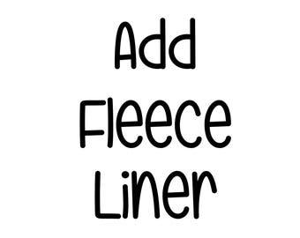 Add Organic Fleece Liner to a Bonnet