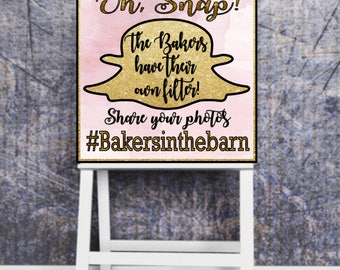 Oh Snap! Snapchat Wedding Sign Personalized Customized 8.5x11 Digital File