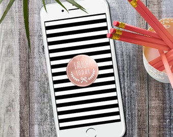 iPhone Wallpaper Rose Gold Lachen heute, Instant Download
