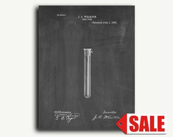 Patent Print - Test Tube Patent Wall Art Poster